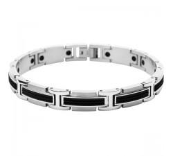 Bracelet acier et silicone Versus ROCHET B461081