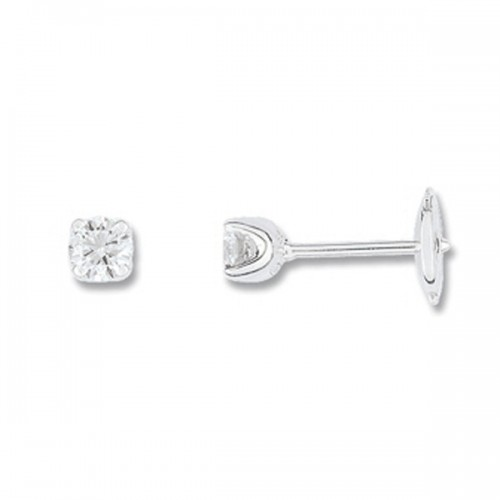 Boucles d'oreilles or gris 750/1000 et diamants