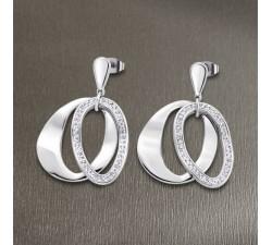Boucles d'oreilles acier LOTUS STYLE LS1672-4/1