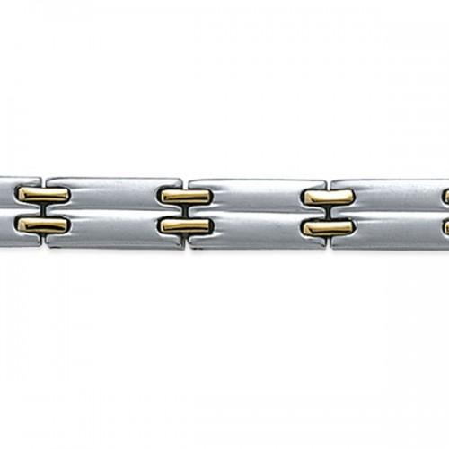 Bracelet acier bicolore by Stauffer