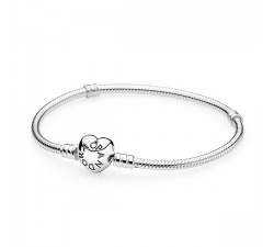 Bracelet à charms Moments en Argent 925/1000e, Fermoir Coeur PANDORA 590719 (16 CM)