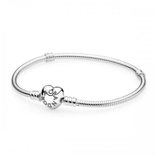 Bracelet Moments en Argent 925/1000e, Fermoir Cœur PANDORA 590719