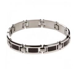 Bracelet acier et carbone Mercury ROCHET B533181