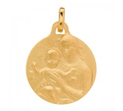 Médaille vierge or 750/1000 by Stauffer