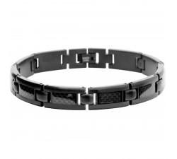 Bracelet acier et carbone Mercury ROCHET B533191