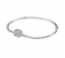 Bracelet à charms Moments en Argent 925/1000, Fermoir Signature PANDORA 590723CZ (17 CM)