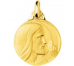 Médaille Christ or 750/1000 by Stauffer