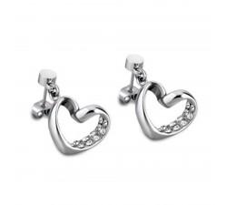 Boucles d'oreilles acier coeurs LOTUS STYLE LS1707-4/1