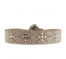 Bracelet FLOCON DE NEIGE marron glacé 12mm A28280