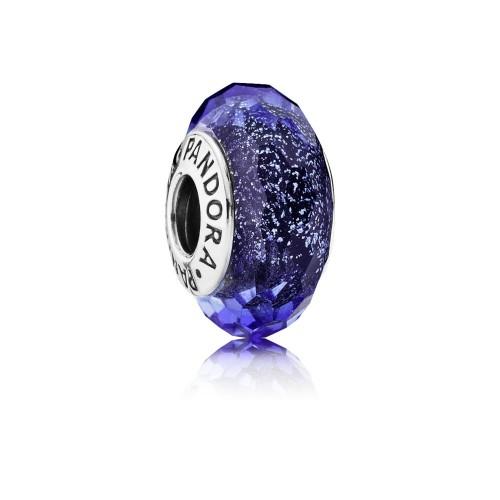Charm Murano Facetté Bleu Iridescent PANDORA 791646