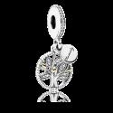 Charm Pendentif Héritage Familial argent 925/1000 et or 585/1000 PANDORA 791728CZ