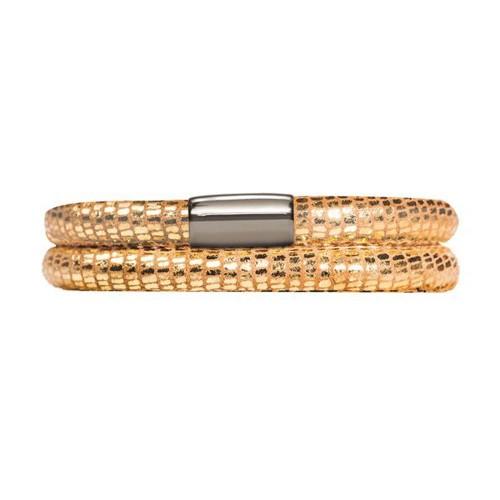 JLo Bracelet Endless 2 Rangs en Or Reptile 1001-38