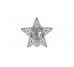 JLo Shiny Star Argent Charm 1175