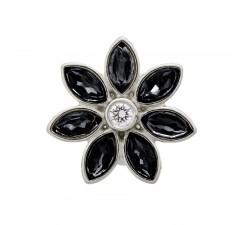Big Black Flower Argent Charm Endless 41451-2
