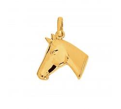 Pendentif or jaune 750/1000 tête de cheval by Stauffer
