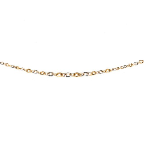 Collier mailles or bicolore 375/1000 by Stauffer