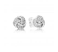 Boucles d'Oreilles Nœuds d'Amour Scintillants argent 925/1000 PANDORA 290696CZ