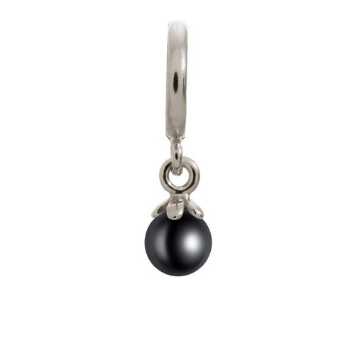 Endless Jewelry Black Pearl Ball Argent Charm 43271-2