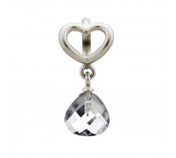 Endless Jewelry Clear Heart Grip Drop Argent Charm 43273-1