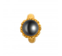Endless Black Pearl Flower Or Charm 51252-2