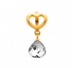 Endless Jewelry Clear Heart Grip Drop Or Charm 53302-1