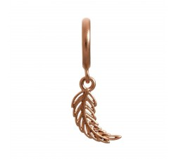 Feather Rosé d'or Charm 63251