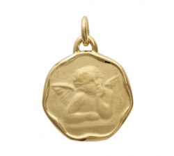 Médaille ange plaqué or by Stauffer