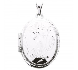 Pendentif porte photo ovale argent 925/1000 by Stauffer