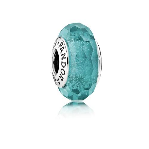 Charm Murano Scintillant Bleu Turquoise Argent 925/1000 PANDORA 791655