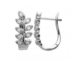 Boucles d'oreilles créoles argent 925/1000 et oxydes de zirconium by Stauffer