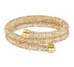 Bracelet-jonc Crystaldust Double, Clear Crystal SWAROVSKI 5255907