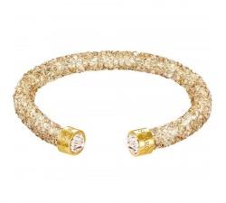 Bracelet Crystaldust manchette, Golden Crystal SWAROVSKI 5255897 (5.8/1.5 cm)