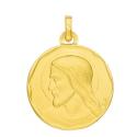 Médaille chrsit or jaune 750/1000 by Stauffer