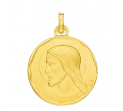 Médaille chrsit or jaune 750/1000 by Stauffer