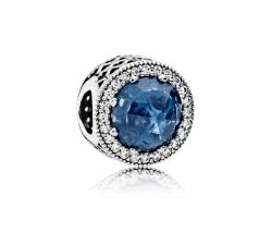 Charm Cœurs Lumineux Bleu Horizon Ajouré Argent 925/1000 Pandora 791725NMB