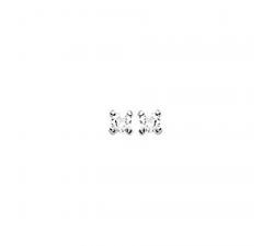 Boucles d'oreilles argent et oxydes de zirconium by Stauffer