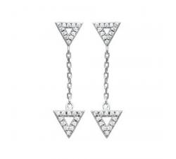 Boucles d'oreilles pendantes argent et oxydes de zirconium by Stauffer