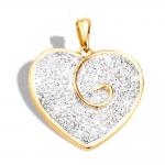 Pendentif or bicolore 750/1000 et diamants by Stauffer