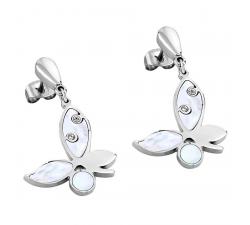 Boucles d'oreilles acier LOTUS STYLE LS1745-4/1