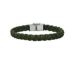 Bracelet acier et cordon tressé Kaki Bang Bang BA8948U/PM-KK