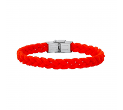 Bracelet acier et cordon tressé Rouge Bang Bang BA8948U/PM-RG