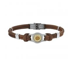 Bracelet douille et cordon Bang Bang SB007-MARRON