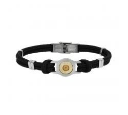 Bracelet douille et cordon Bang Bang SB007-NOIR