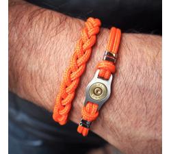Bracelet douille et cordon Bang Bang SB007-ORANGE