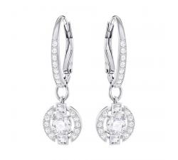Boucles d'Oreilles Sparkling Dance Round, Blanc SWAROVSKI 5272366