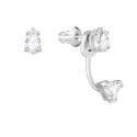 Boucles d'Oreilles Attract Triangle, Blanc SWAROVSKI 5274078