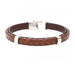 Bracelet cuir et acier tressé-Everyday Dark BA7973