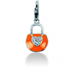 Charm Pierre Lannier JC99A114 - Charm Pendentif Pochette Orange Femme