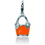 Charm Pierre Lannier JC99A119 - Charm Pendentif Sac à main Orange Femme