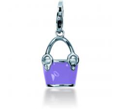 Charm Pierre Lannier JC99A120 - Charm Pendentif Sac à main Violet Femme